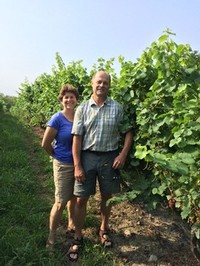 Susan & Russell Hearn in the Vineyard