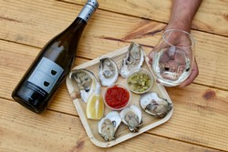 Oysters and Suhru Sauvignon Blanc